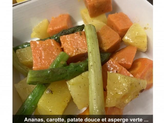 La Bisquine Ananas, carotte, patate douce et asperge verte