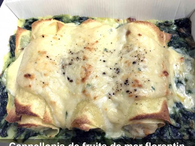 La Bisquine Cannellonis de fruits de mer florentin