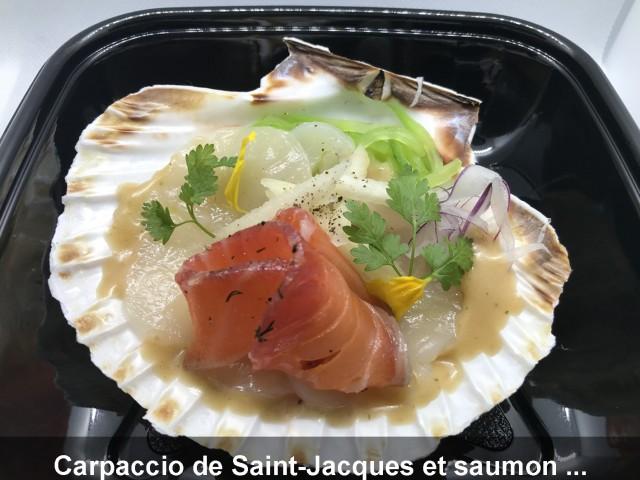 La Bisquine Carpaccio de Saint-Jacques et saumon