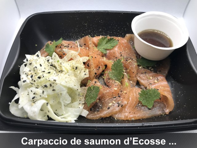 La Bisquine Carpaccio de saumon d'Ecosse ...