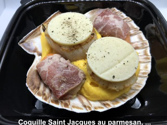 La Bisquine Coquille Saint Jacques au parmesan,...