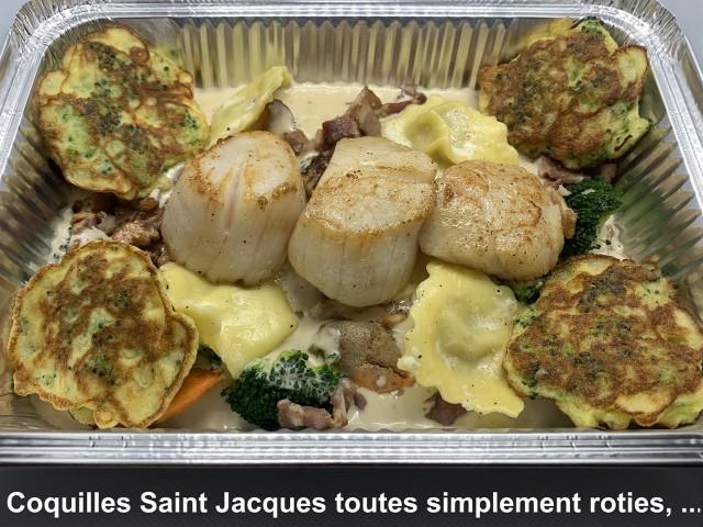 La Bisquine Coquilles Saint Jacques toutes simplement rôties, ...