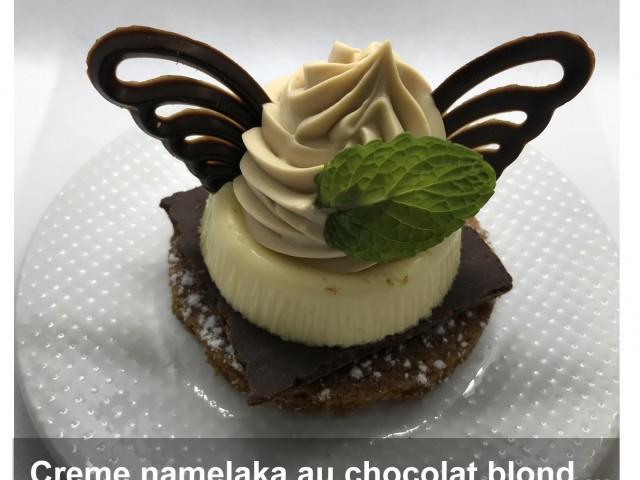 La Bisquine Crème namelaka au chocolat blond
