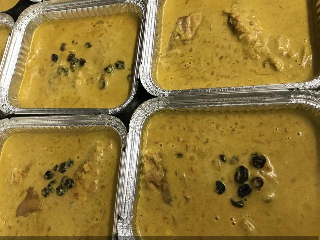 La Bisquine Curry doux Indien de cuisse de volaille, ...