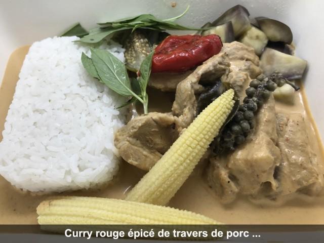 La Bisquine Curry rouge épicé de travers de porc au ...