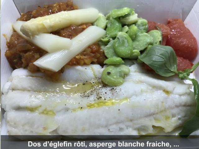 La Bisquine Dos d'églefin rôti, asperge blanche fraiche