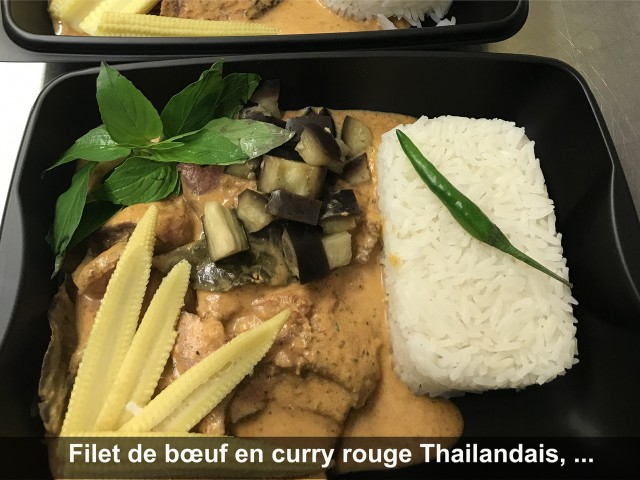 La Bisquine Filet de bœuf en curry rouge Thaïlandais, ...