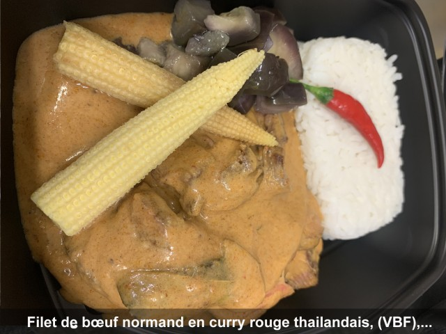 La Bisquine Filet de bœuf normand en curry rouge thaïlandais, (VBF) ...