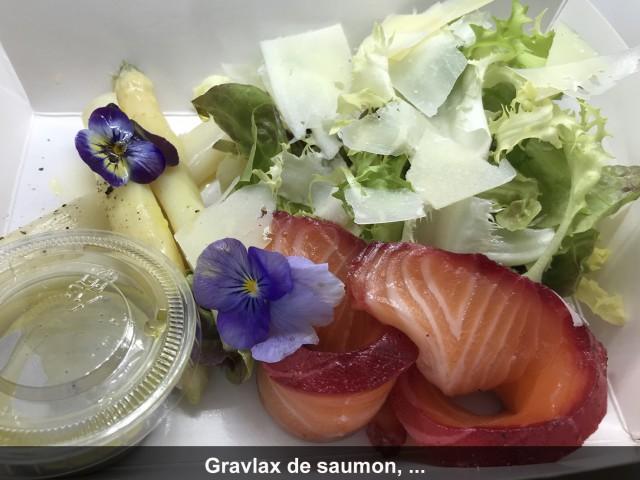 La Bisquine Gravlax de saumon label rouge et asperge blanche,...