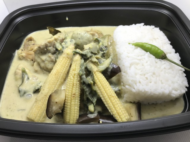 La Bisquine Green chicken spicy curry (curry vert Thaïlandais épicé de poulet)