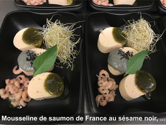 La Bisquine Mousseline de saumon de France au sésame noir, ...
