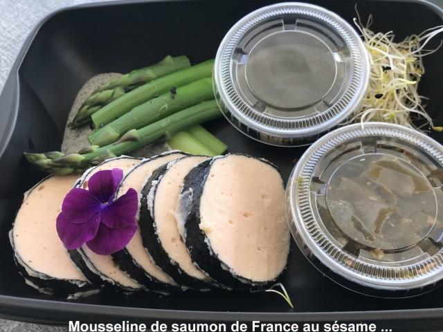 La Bisquine Mousseline de saumon de France au sésame noir ...