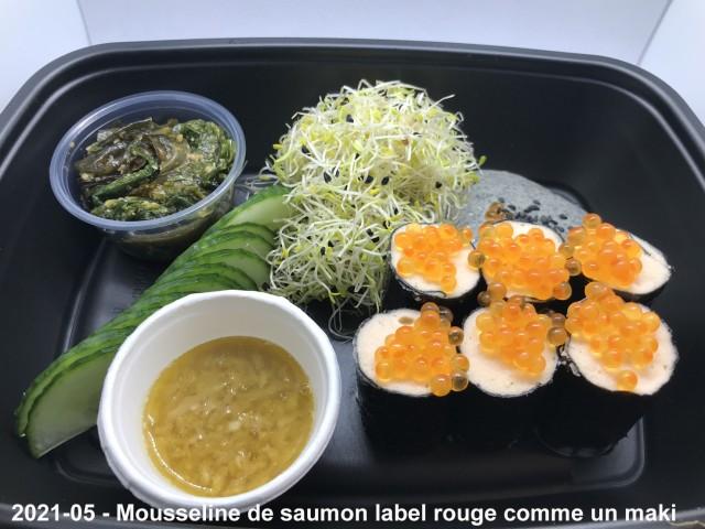 La Bisquine Mousseline de saumon label rouge comme un maki ...