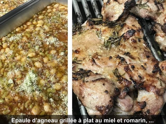 La Bisquine Épaule d'agneau grillée à plat au miel et romarin, ...