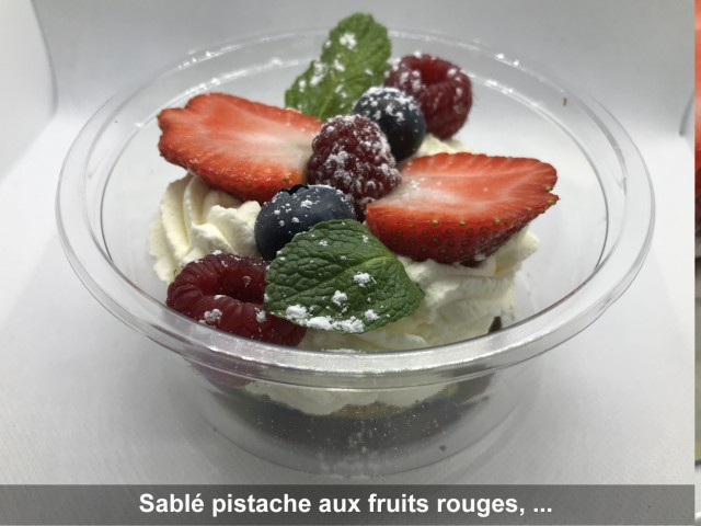 La Bisquine Sablé pistache aux fruits rouges, ...