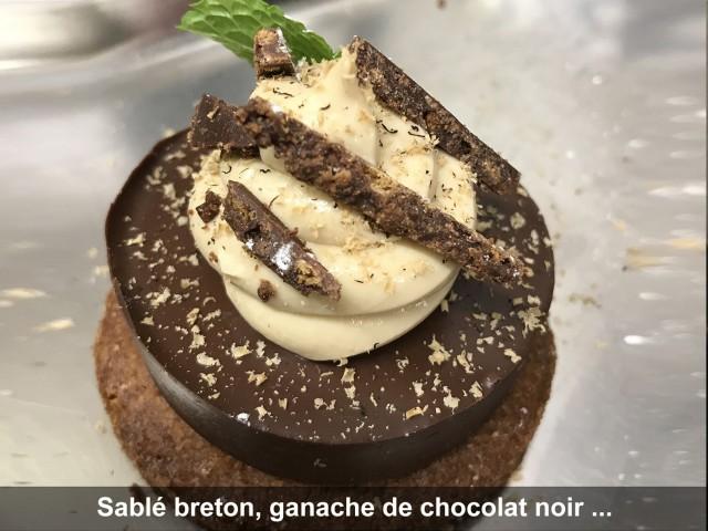 La Bisquine Sablé breton, ganache de chocolat noir