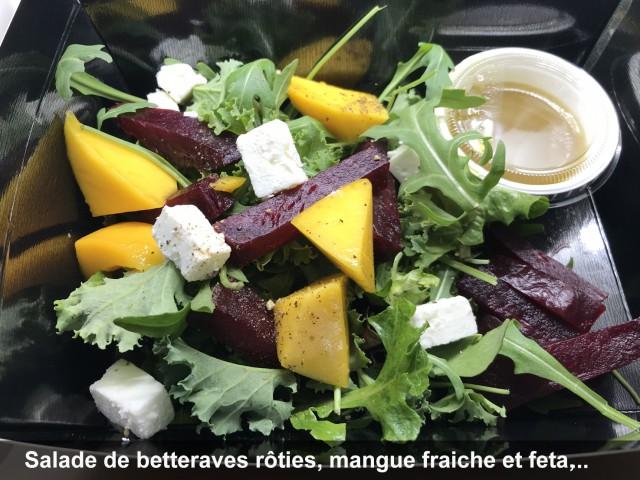La Bisquine Salade de betteraves rôties, mangue fraiche et feta, ...