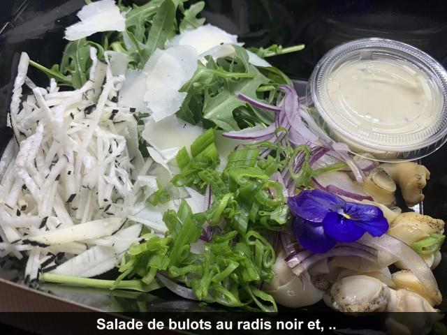 La Bisquine Salade de bulots au radis noir et ...