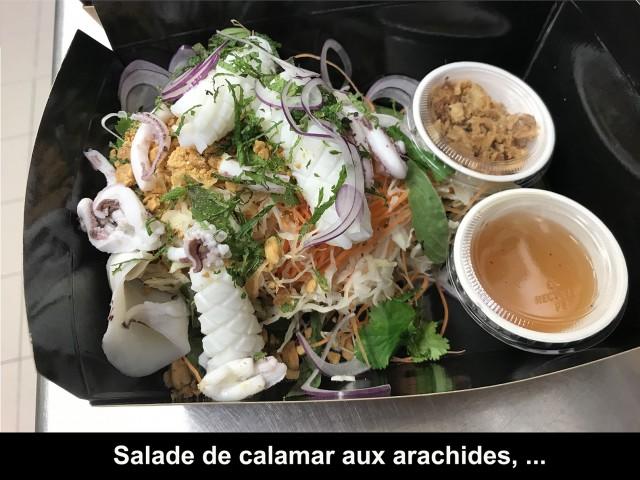 La Bisquine Salade de calamar aux arachides, ...