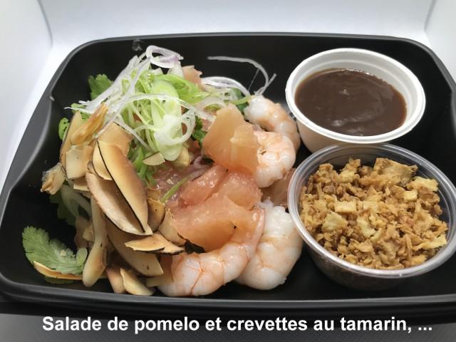 La Bisquine Salade de pomelo et crevettes au tamarin, ...