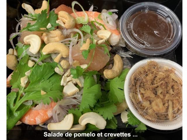 La Bisquine Salade de pomelo et crevettes au ...