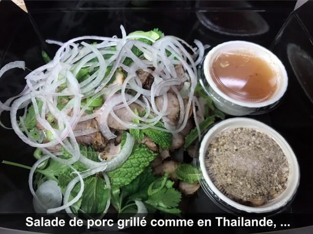 La Bisquine Salade de porc grillé comme en Thailande, ...