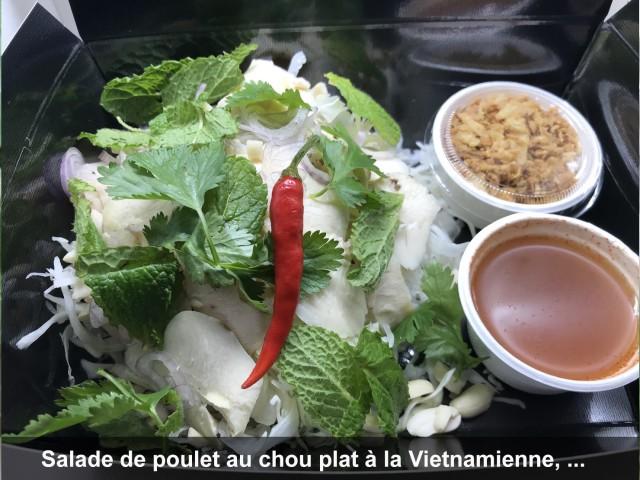 La Bisquine Salade de poulet au chou plat à la Vietnamienne,