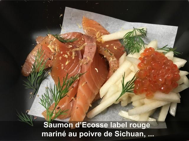 La Bisquine Saumon d'Ecosse label rouge mariné au poivre de Sichuan, ...