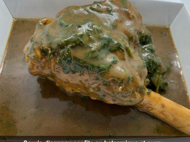La Bisquine Souris d'agneau confite au balsamique et curry,...