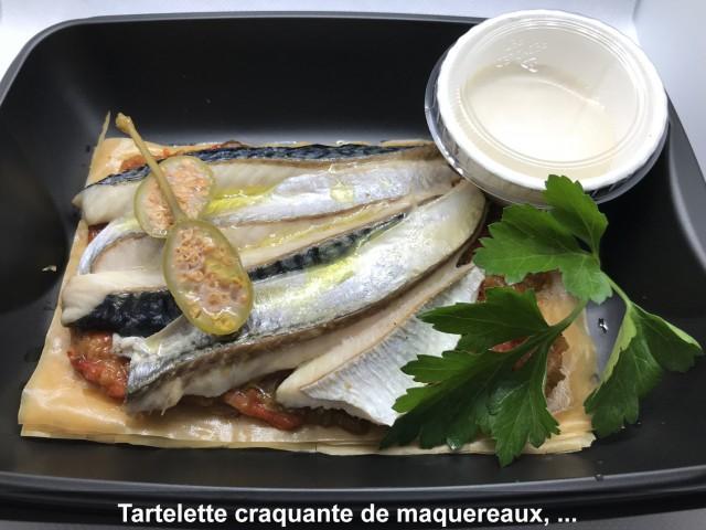 La Bisquine Tartelette craquante de maquereaux, ...