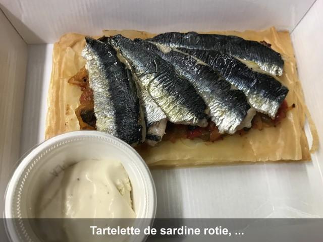 La Bisquine Tartelette de sardine rôtie, ...