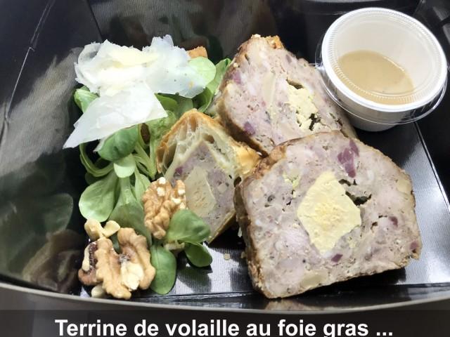 La Bisquine Terrine de volaille au foie gras de canard ...