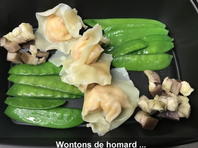 La Bisquine Wontons de homard ...