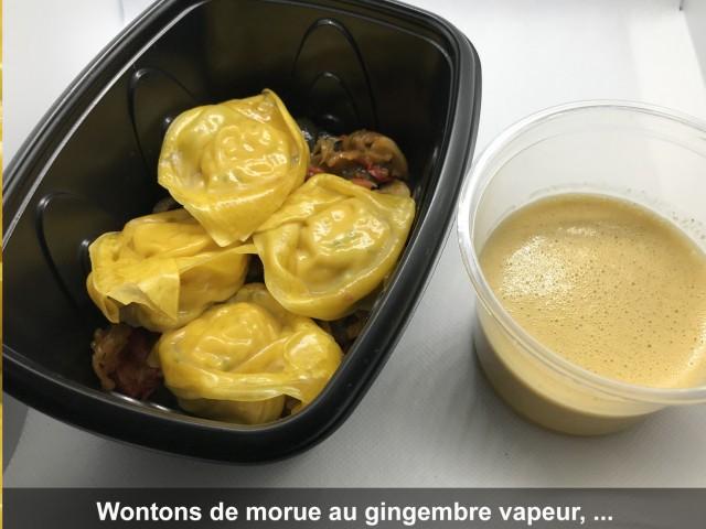 La Bisquine Wontons de morue au gingembre vapeur,